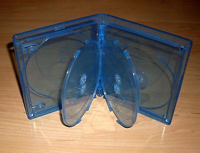 Blu Ray Hülle Fünffach 5fach 5-fach blau Blu-Rays Rückenbreite 15 mm 1,5 cm Neu