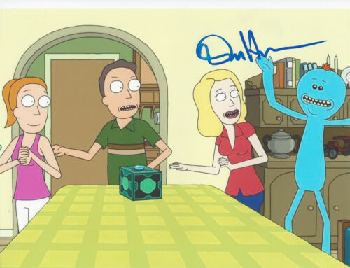 DAN HARMON - RICK AND MORTY CREATOR - SIGNED AUTHENTIC 8X10 PHOTO 11 w/COA PROOF