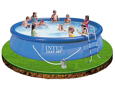 Intex Easy Set Up 15 ft x 36 in Swimming Pool + Filter Pump, Cover, Ground Cloth