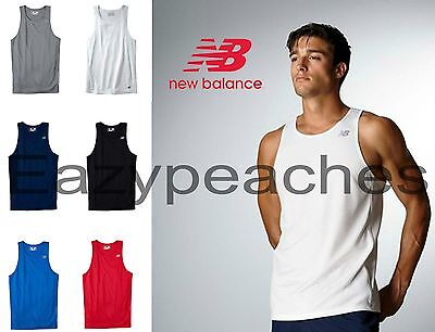 New Balance Singlet - New Balance Men's S-XXL 3XL Running Singlet Workout Tank Gym NB dri fit T-Shirt