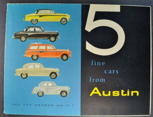 1957-1958 Austin Brochure A50 A35 A105 A95 Saloon Countryman Excellent Original