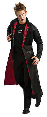 Mens DELUXE Vampire Coat Long Overcoat Trench Costume Red Black Adult Jacket NEW - Men Vampire Costumes