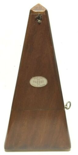 Maelzel Paquet Metronome French Has Crack on Back Side SEE PHOTOS
