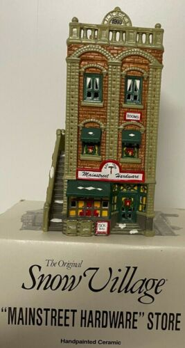 Dept 56 Snow Village Mainstrret Hardware Store w/box, sleeve, and light