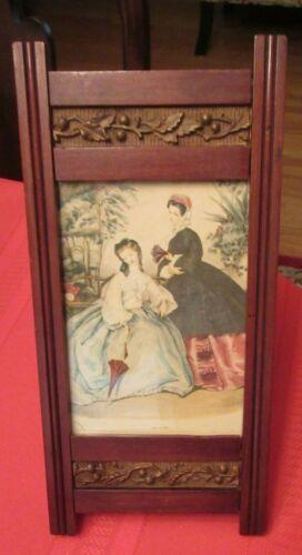 Ca. 1890 Antique Victorian Walnut Frame with Raised Floral Vine Decoration