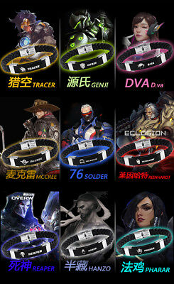 Fashion Anime Overwatch Bracelets OW Game Hand Chains Silicone Gift with Box