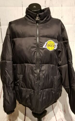 Vintage Los Angeles Lakers NBA Starter Black Puffy Coat Jack