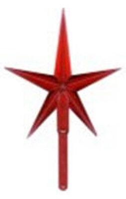 CERAMIC CHRISTMAS TREE STAR Plastic Red Large