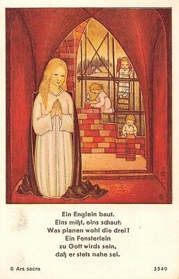 "Fleißbildchen Heiligenbild Gebetbild Andachtsbild  Holy card Ars sacra"" H772"""