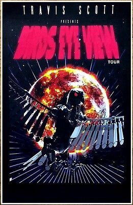 TRAVIS SCOTT Birds Eye View 2017 Ltd Ed RARE Tour Poster +FREE Hip-Hop Poster!