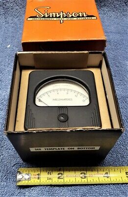 Vintage Nos Simpson Electrical Meter 0-15 Ma Dc