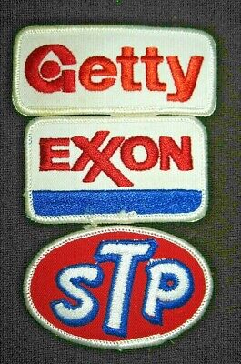 Vintage GETTY EXXON STP Fabric Patches