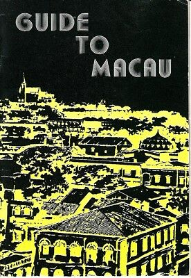 Guide to Macau August 1976 Sightseeing Restaurants Vintage Booklet