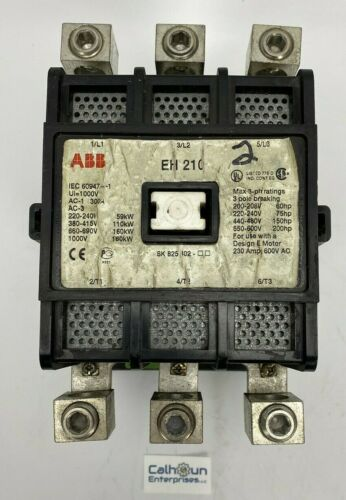 ABB EH-210 MOTOR STARTER CONTACTOR 300 AMP 110/120 COIL 2943 2091-25 *WARRANTY*