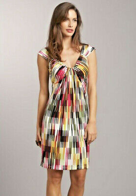 NWT LONDON TIMES Graphic Print Abstract Jersey Dress 10 $139 Great for Travel