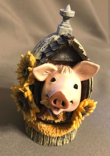 Sunny Side Up Egg Pig Figurine Sunflower Limited Edition by Herrero No Box