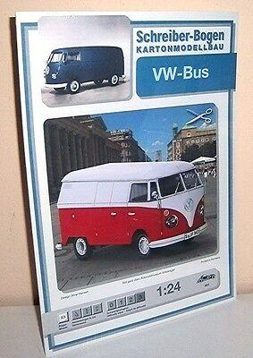 + KARTONMODELLBAU  VW-BUS   SCHREIBER-BOGEN 661   Bastelbogen
