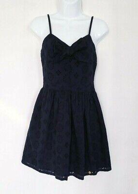 NEW Superdry Women's Girl Black Lace Cotton Dresses Size XXS,S $60