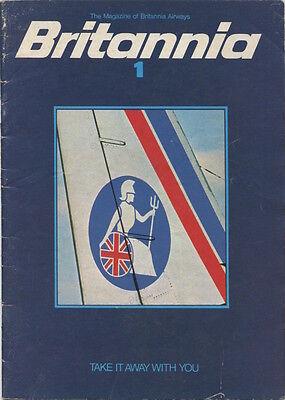BRITANNIA AIRWAYS VINTAGE INFLIGHT MAGAZINE 1970'S