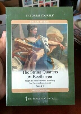 """New Sealed """"String Quartets of Beethoven"""" Great Courses - The Teaching Company"""