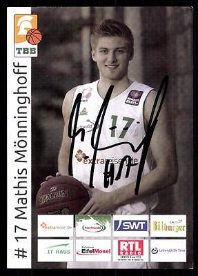 Mathis Mönninghoff Autogrammkarte Original Signiert Basketball + A 97774