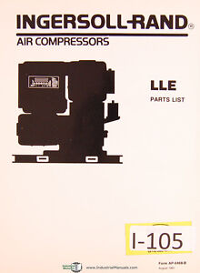 ingersoll rand lle air compressors parts list manual 1991