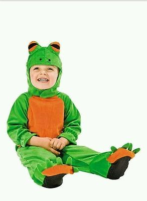 Cute Baby Toddler Tree Frog EZ Romper Kid's Children's Halloween Costume - Toddler Frog Halloween Costume