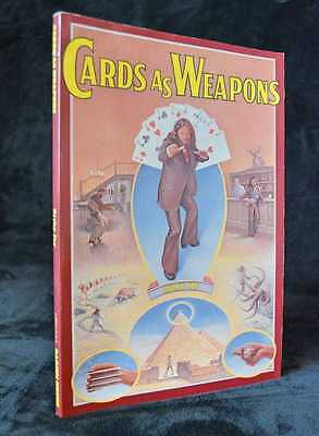 1977 1st Paperback Edition Cards As Weapons RICKY JAY SIGNED Card Magic RARE
