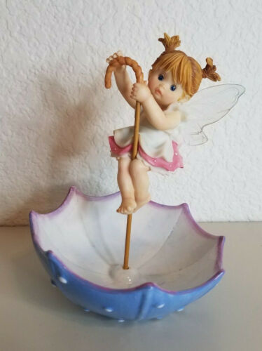 2008 My Little Kitchen Fairies Rainy Day Enesco 4012252 No Box Umbrella Read Des