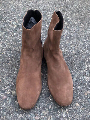 Pete Sorensen Mac Gill Brown Suede Ankle Boots Size 42 (US 9) NEW