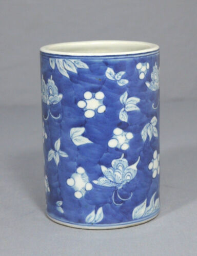 Chinese Blue and White Porcelain Pen Holder