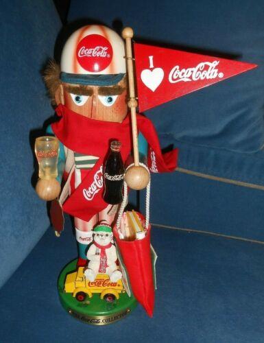 1998 Steinbach Nutcracker Coca Cola Fan 14 inches Tall
