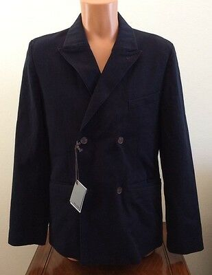 Mens Size 40 Jack Spade Navy Blue Twill Sports Coat Jacket Suit Blazer P2RU0292