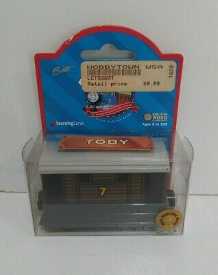 NEW Thomas the Tank Engine & Friends Wooden Railway Toby 1999 Brown Label 99007