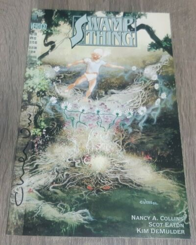 SWAMP THING #130 SIGNED CHARLES VESS  #1136 JUSTICE LEAUGE DARK
