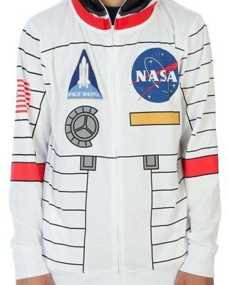 Mens Hoodie - NASA - Buzz Aldrin -  Zipper with Full Face Space Mask - NWT's (Mask Full Zipper)