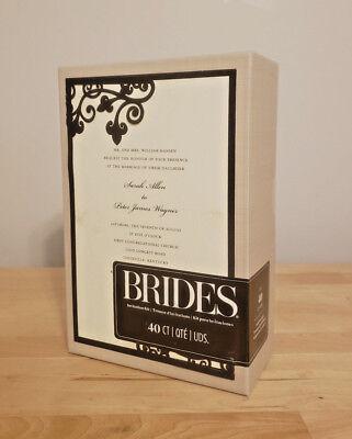 Elegant & Classic 40 Count Black & Ivory Wedding Event Invitation Kit by - Brides Invitation Kit