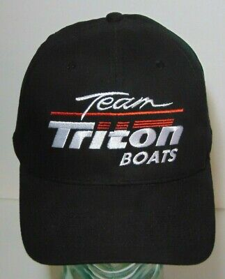 Old Vintage 1990s TEAM TRITON BOATS BASS FISHING BOAT RACING SNAPBACK HAT CAP