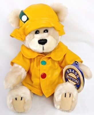 "1996 BRASS BUTTONS Teddy Bear Plush Stuffed ""HARPER ~Bear of HEALTH"" Get Well"