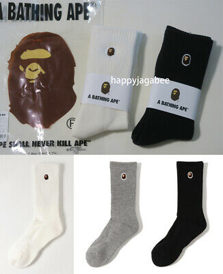 A BATHING APE Goods Men's APE HEAD ONE POINT SOCKS 3colors From Japan new