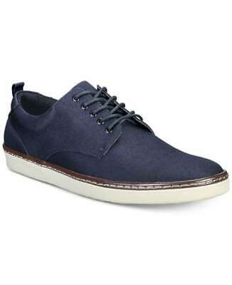 Alfani Mens Billy Twill Fabric Lace Up Casual Oxfords, Navy, Size 11.0 mboJ