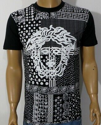 NWT MEN'S VERSACE T-SHIRT BLACK S-M-L-XL-XXL