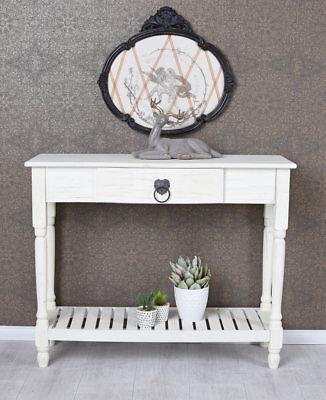 Weiße Konsole Schrank (Vintage Sideboard Küchenschrank Konsolentisch Weiss Tischkonsole Shabby Konsole)