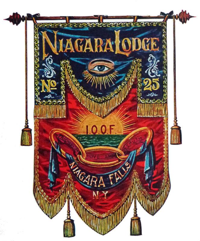 Custom Design Society Fraternal Association Lodge Temple Flag Banner Pennant Art