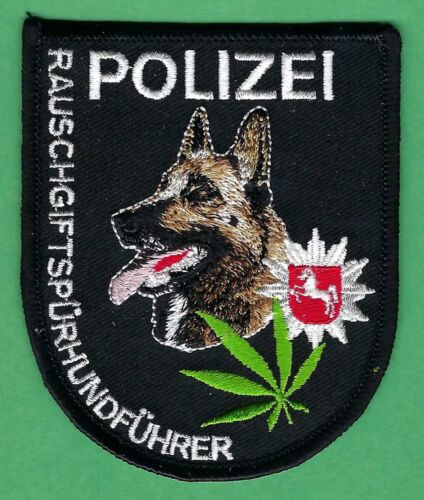 GERMAN POLIZEI NARCOTICS DETECTION K-9 UNIT POLICE PATCH
