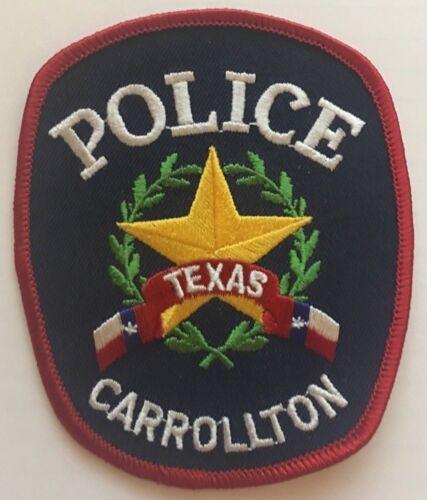 Carrollton Texas TX Police Collector Uniform Patch circa 1992