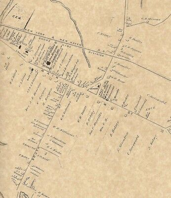 Clinton Indian River Hammonasset River CT 1874 Maps with Homeowners Names Shown