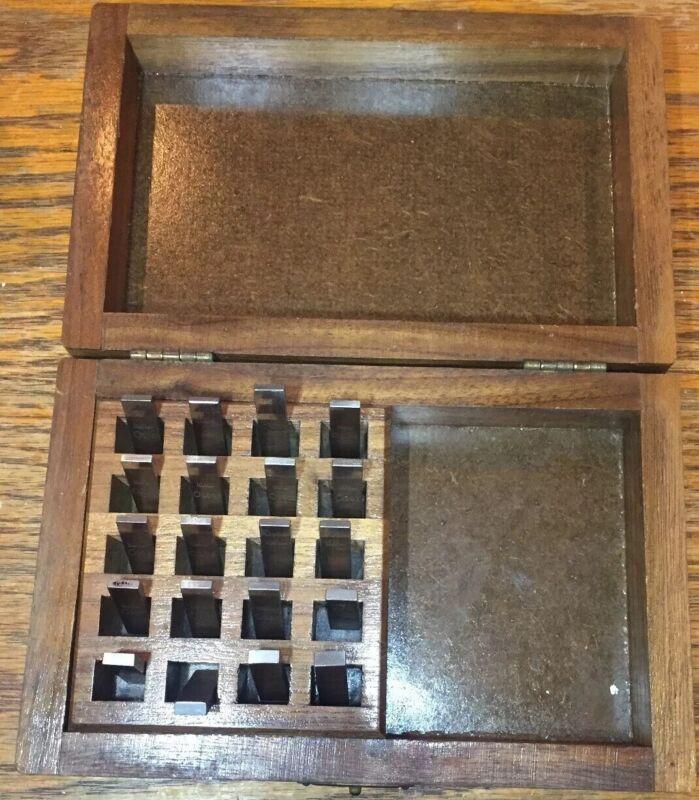 STARRETT WEBBER GAGE BLOCKS Set Of 20 In Wood Case