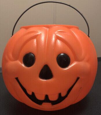 Vintage General Foam Plastics Blow Mold Halloween Candy Plastic Bucket Treat