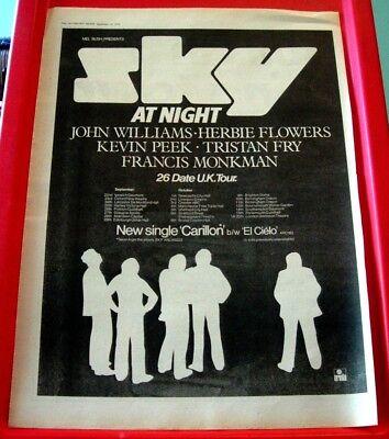 Sky UK Tour/Carillon Vintage ORIGINAL 1979 Press/Magazine ADVERT Poster-Size